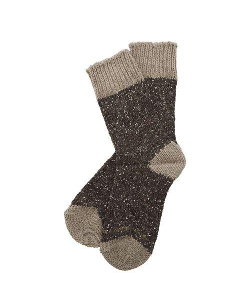 バックヤードHFOOTWEAR hfootwear ウール混合靴下レディースブラウンfree【BACKYARD】