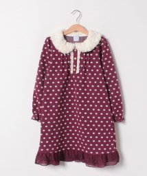 axes femme kids/ドットジャカードワンピース/501536868