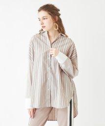 titivate/パターンストライプオーバーサイズシャツ/501544983