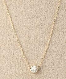 DECOUVERTE/18KYG 0.1ct ダイヤモンド ネックレス H&C/501546262