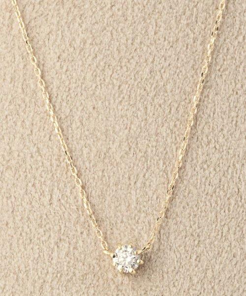 DECOUVERTE(デクーヴェルト)/18KYG 0.1ct ダイヤモンド ネックレス H&C/18110895010530