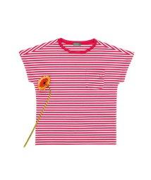 BENETTON (UNITED COLORS OF BENETTON GIRLS)/ワイドスリーブボーダーポケット半袖Tシャツ・カットソー/501529425