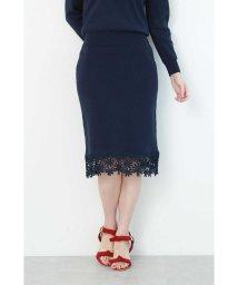 PROPORTION BODY DRESSING/裾レースタイトニットスカート/501546477