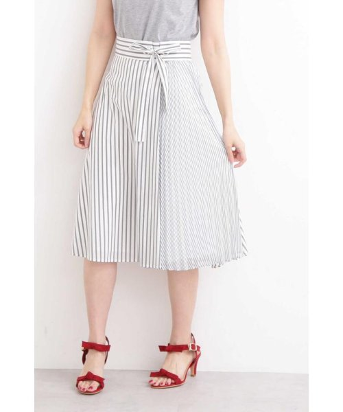 PROPORTION BODY DRESSING(プロポーション ボディドレッシング)/◆フレアーストライプ部分プリーツスカート/1219120204
