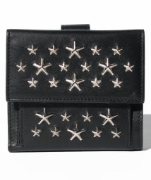JIMMY CHOO/FRIDA  ミニ財布 二つ折り / LEATHER WITH STARS 【BLACK】/501546978