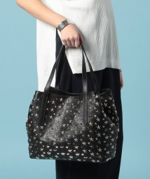 JIMMY CHOO/SOFIA  L  トートバッグ / LEATHER W/MULTI METAL STARS 【BLACK+METALLIC MIX】/501546979