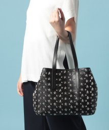 JIMMY CHOO/SOFIA  M  トートバッグ / LEATHER WITH STARS 【BLACK】/501546980