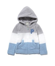 gelato pique Kids&Baby/【KIDS】ベビモコ'ブロックボーダーkidsパーカ/501547577