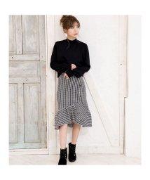 GROWINGRICH/[ボトムス スカート]スカートが主役のコーデを 裾フリルアシンメトリースカート[181241]/501547607