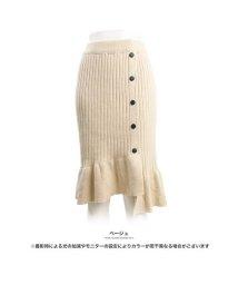 GROWINGRICH/[ボトムス スカート]柔らかニットのぬくもり感じて 裾フリルリブニットスカート[181250]/501547608
