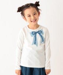 3can4on(Kids)/【90cm~150cm】ビッグリボンプリント長袖Tシャツ/501547789