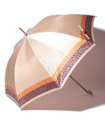 LANVIN Collection(umbrella)/LANVIN COLLECTION 婦人 長傘 P先染ジャカード ロゴボーダ/501507999