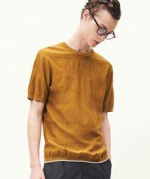 TOMORROWLAND MENS/【WEB先行予約】コットン シャドーボーダー ニットTシャツ/501548137