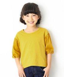 devirock/袖口リボン7分袖Tシャツ/501548419