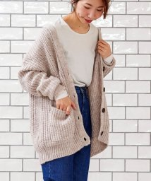 le.coeur blanc OUTLET/アゼVネックカーディガン/501549125