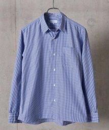 SHIPS JET BLUE/SHIPS JET BLUE: COOLMAX チェックストライプ レギュラーシャツ/501549989