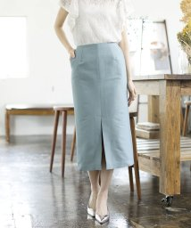 BEAMS OUTLET/Demi-Luxe BEAMS / コットンシルク スリットタイトスカート/501513329