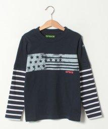 crocs(KIDS WEAR)/CROCS重ね着風デザイン長袖Tシャツ/501534734