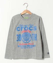 crocs(KIDS WEAR)/CROCSデカロゴ長袖Tシャツ/501534735