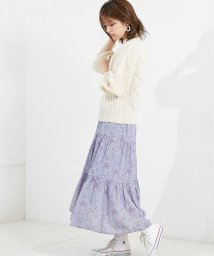 NICE CLAUP OUTLET/【natural couture】ティアードマキシスカート/501544245