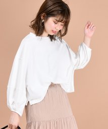 NICE CLAUP OUTLET/【natural couture】USED風ボリューム袖Tシャツ/501544246