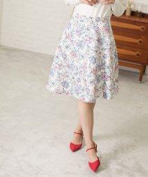 PROPORTION BODY DRESSING/★ドローイングフラワープリントスカート/501548254