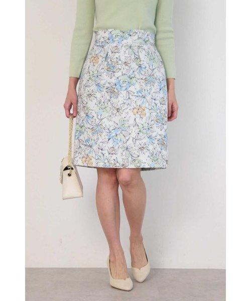 PROPORTION BODY DRESSING(プロポーション ボディドレッシング)/ドローイングフラワータイトスカート/1219120103