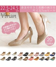 Vivian/ポインテッドトゥ7cmキレイめパンプス/501550788
