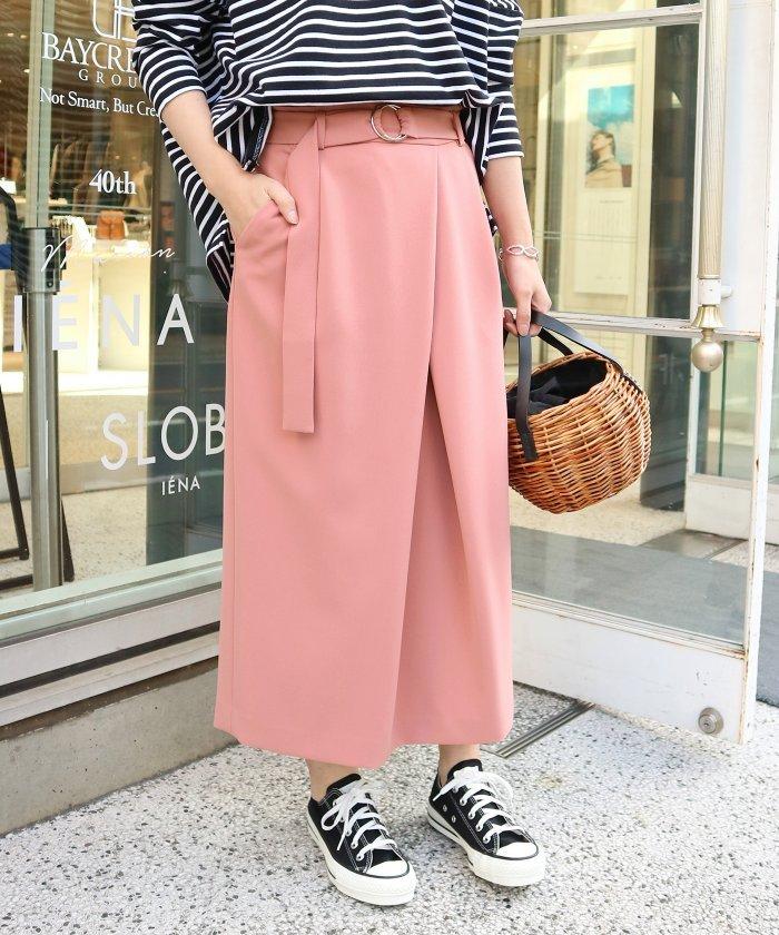 【IENA】ベルト付きアシメタックタイトスカート