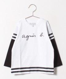 agnes b. ENFANT/SBZ8 E TS スポーティーロゴTシャツ/501548423