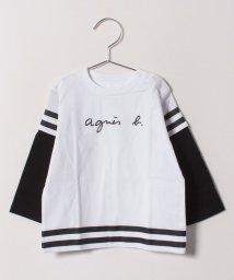 agnes b. ENFANT/SBZ8 L TS スポーティーロゴTシャツ/501548428