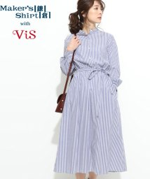 ViS/【鎌倉シャツ×ViS】スタンドカラーワンピース/501552761