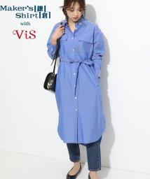 ViS/【鎌倉シャツ×ViS】ロングシャツワンピース/501552762