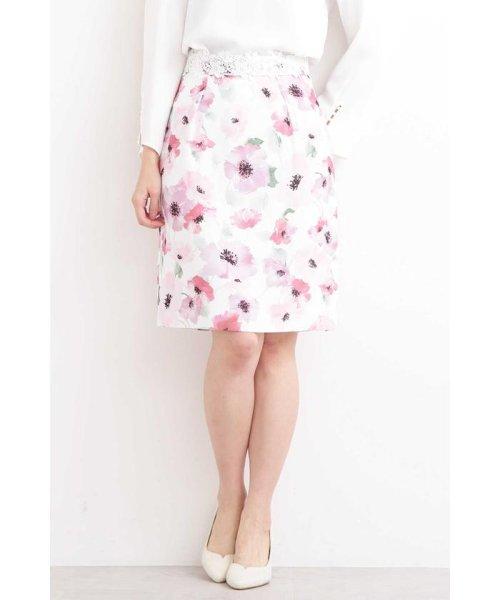 PROPORTION BODY DRESSING(プロポーション ボディドレッシング)/ブライトトーンフラワータイトスカート/1219120206