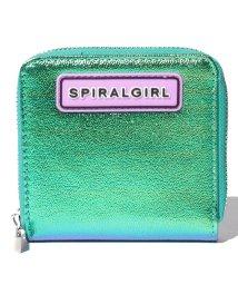 SPIRALGIRL/【SPIRALGIRLスパイラルガール】キラキラ仕様の2つおりラウンドジップパース/501546889