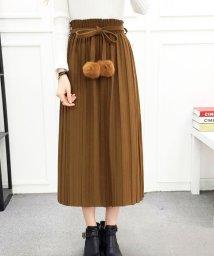 miniministore/ロングスカート レディース プリーツスカート ゴムウエスト リボン スカート 可愛い/501554745