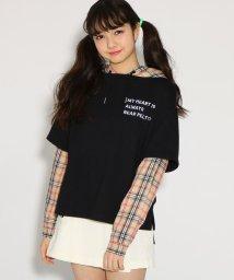 PINK-latte/★ニコラ掲載★シャツドッキング トップス/501554773