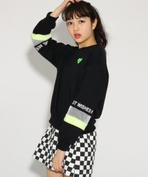 PINK-latte/袖メッシュライン裏毛 トップス/501554774