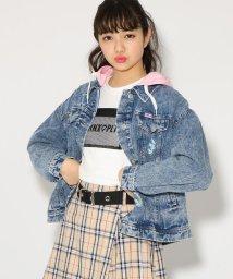 PINK-latte/★ニコラ掲載★フード付BIG Gジャン/501554779