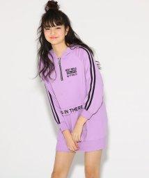 PINK-latte/ハーフZIP裏毛 ワンピース/501554781