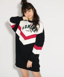 PINK-latte/★ニコラ掲載★V切替裏毛 ワンピース/501554782