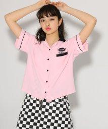 PINK-latte/★ニコラ掲載★ボウリングシャツ/501554785