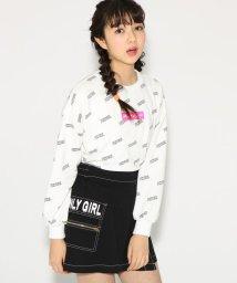 PINK-latte/★ニコラ掲載★総ロゴ柄裏毛 トップス/501554787