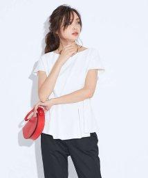qualite/2WAYストレッチペプラムシャツ【予約】/501555057