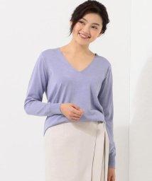 ICB(LARGE SIZE)/【洗える】Hi Twist Silk Cotton Vネック ニット/501555442