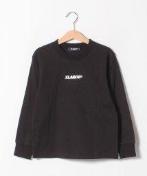XLARGE KIDS/ロゴシシュウナガソデTシャツ/501549051