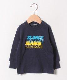 XLARGE KIDS/4ダンロゴナガソデTシャツ/501549052