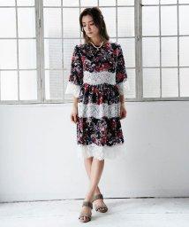 Millon Carats/花柄レースボーダーワンピース[DRESS/ドレス]/501554304