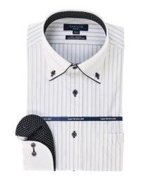 TAKA-Q/ストレッチ形態安定スリムフィットボタンダウン長袖ニットビジネスドレスシャツ/501554416