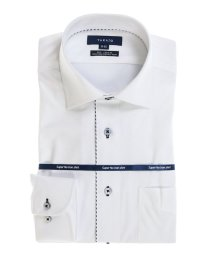 TAKA-Q/ストレッチ形態安定レギュラーフィット ワイドカラー長袖ニットビジネスドレスシャツ/501554420